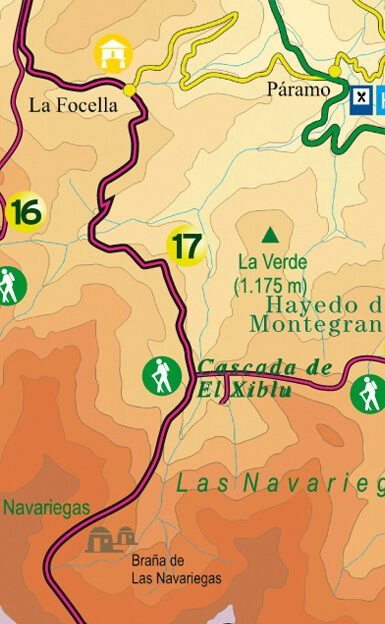 Mapa orientativo de Navariegas